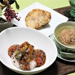 冬の中華2~牡蠣の豆豉ソースご飯・大根餅・獅子頭スープ