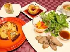 料理レッスン写真 - オーブンフル活用手作り生地のキッシュとフランス料理のおもてなし献立♪