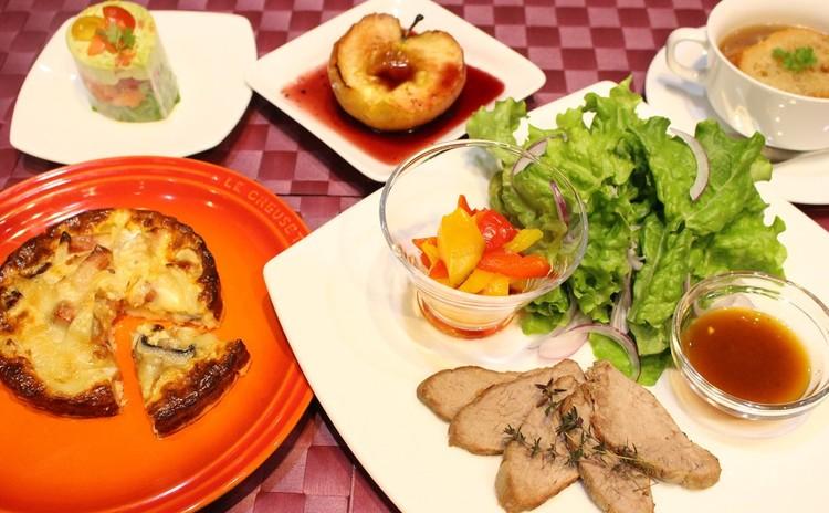 オーブンフル活用手作り生地のキッシュとフランス料理のおもてなし献立♪