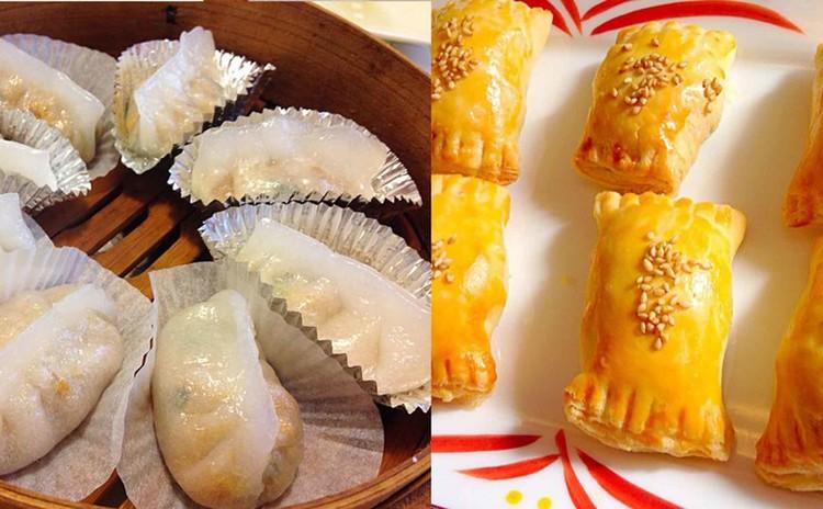 チャーシューパイ&潮州粉果(潮州風蒸し野菜餃子)を作ります。