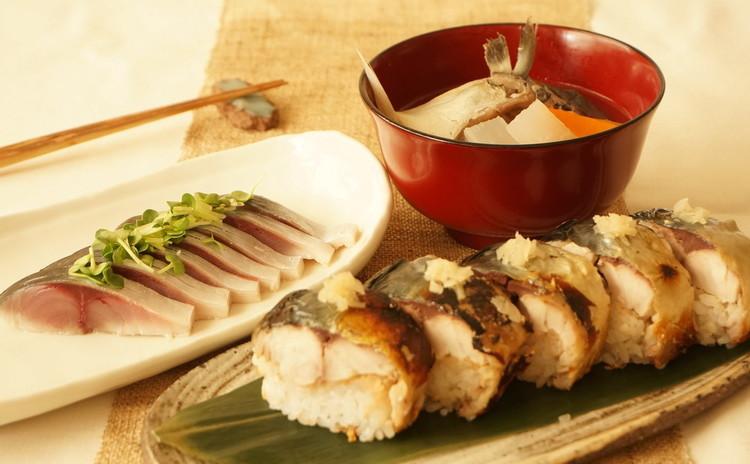 1人一尾鯖をさばいてサバ三昧!しめ鯖&焼き鯖寿司&船場汁&お楽しみ一品