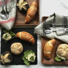 酒粕酵母パン!ザルツシュタンゲン&カイザーゼンメル、アンチョビポテサラ