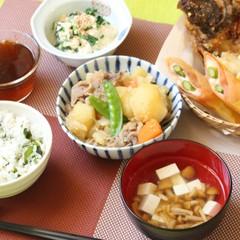 肉じゃがを得意料理に和食の献立♪カレイのから揚げ菜の花の白和え