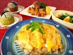 料理レッスン写真 - 和風あんかけオムライスと鶏の竜田揚げ🎵抹茶とオレオのマフィン♡