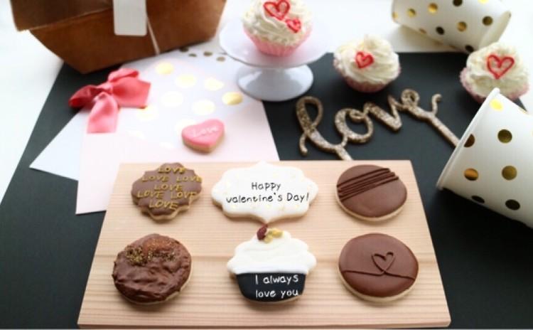 バレンタイン大人チョコレートデザイン!アイシングクッキーレッスン
