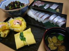 料理レッスン写真 - 茶巾寿司 しめさば色々
