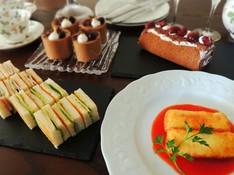 料理レッスン写真 - バレンタインはシックなハイティー クリームコロッケとチョコムース