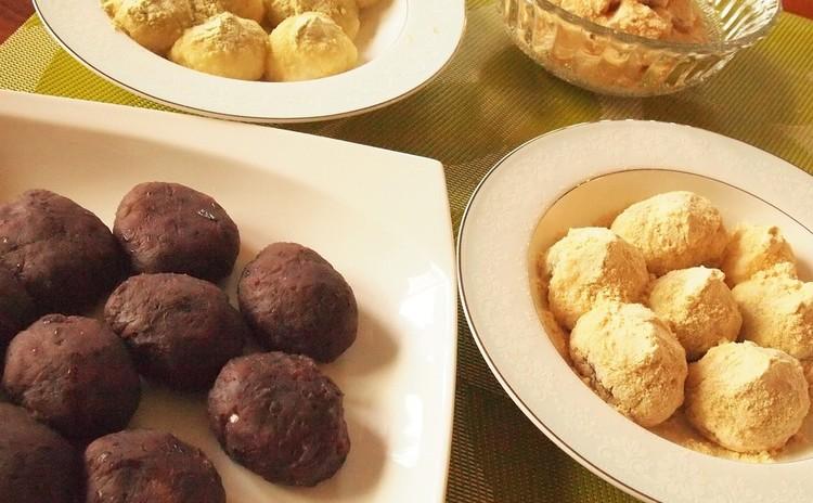 和菓子の基本「粒あんを炊く」~おはぎ4種類(粒あん・きなこ・黒ゴマ)~