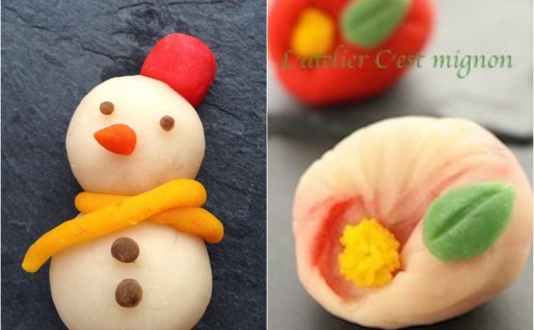 お家で簡単!本格和菓子♪ 練り切りからしっかり作る「スノーマン」「椿」