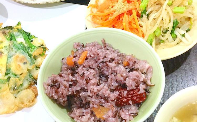 韓国トシラク(お弁当膳)6種のおかずとナツメ茶を作りましょう♫