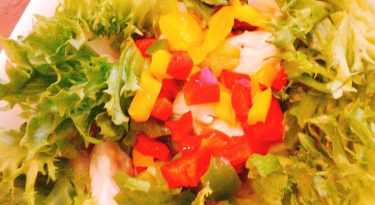 豆とチキンのサラダ
