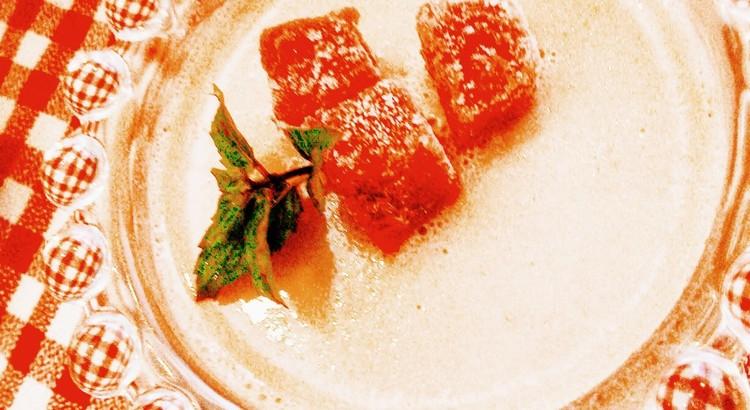 苺のパンナコッタ