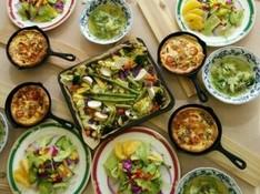 料理レッスン写真 - 冬野菜のキッシュ&グルテンフリー米粉チョコカップシフォンケーキ