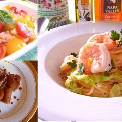 春野菜たっぷり!キャベツの春色パスタや新玉ねぎのフレッシュサラダ