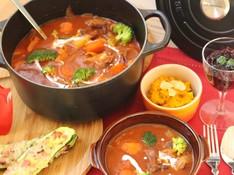 料理レッスン写真 - ル・クルーゼを使ってルーから作るビーフシチューの献立♪おもてなし西新宿