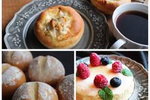 料理レッスン写真 - みんな大好きオニオンツナブレッド!コーンミールブレッド!チーズケーキ付
