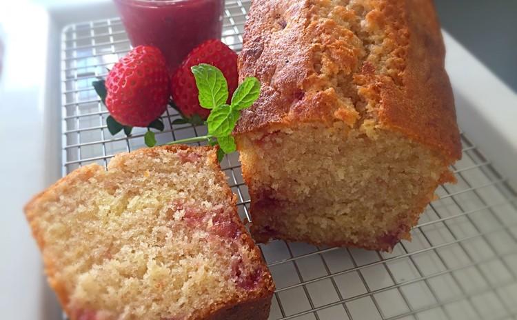 しっとり〜ふわふわ いちごパウンドケーキ&濃厚ミルクいちごジャム