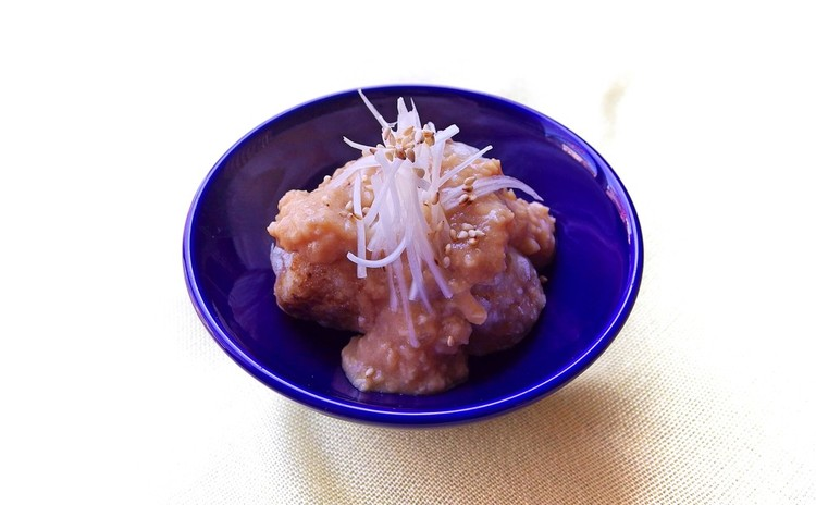 揚げ里芋の肉味噌がけ