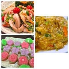おもてなしタイ料理に挑戦 クンパッポンカリー(海老のカレー風味卵炒め)
