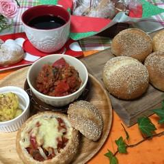 話題のブレッドボウル(スープパン)とハートのカフェオレナッツパン