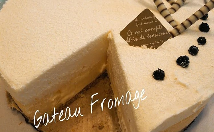 パティスリーのダブルチーズケーキ~15センチセルクル一台分~
