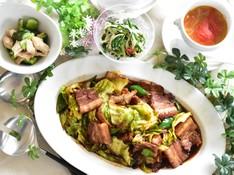 料理レッスン写真 - 簡単だから何度でも 回鍋肉、中華風スープ、ささみとキュウリのマリネ等