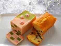 料理レッスン写真 - お花見スイーツ~2種のおしゃれ和風パウンドケーキ~