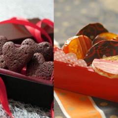 バレンタインは手作りで!自家製オランジェットとハートのチョコケーキ