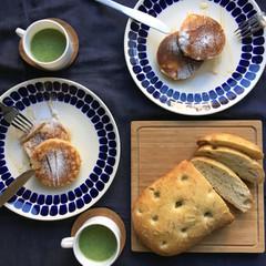 自家製酵母パン!ふんわりポテトフォカッチャ&もっちりパンケーキ