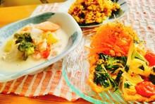 料理レッスン写真 - ナチュラル!体に優しいクリームシチュー定食