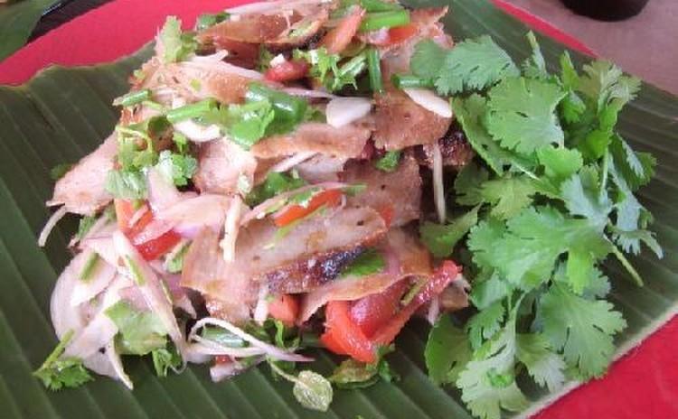 タイ料理でオードブル☆ぷりぷりタピオカボール&海老揚げパン&豚トロ焼き