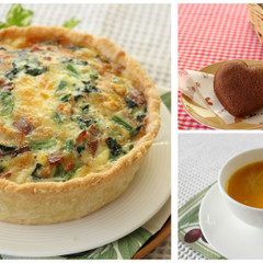 キッシュ・ロレーヌとフィナンシェ・ショコラ&ほっこりキャロットスープ