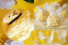 料理レッスン写真 - どちらか選べる♪モコモコスポンジの「ミモザショートケーキ」クマ&ドーム