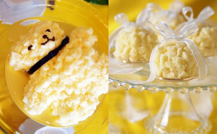 どちらか選べる♪モコモコスポンジの「ミモザショートケーキ」クマ&ドーム