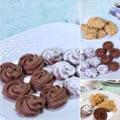 おしゃれで簡単、激うま。薔薇のココアクッキー&コーンフレークスクッキー