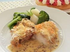 料理レッスン写真 - 〜鶏肉のディアブル、詰め物をしたマカロニトマトソース、いちごのタルト〜