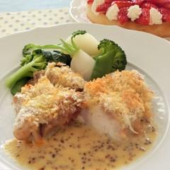 〜鶏肉のディアブル、詰め物をしたマカロニトマトソース、いちごのタルト〜