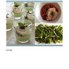 野菜ソースたっぷりポークポットローストと、春野菜とアンチョヴィのサラダ
