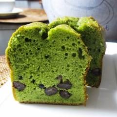 「抹茶とぬれ甘納豆のパウンドケーキ」18cm長さパウンド型1本