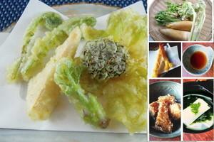 料理レッスン写真 - 旬の山菜天ぷらと竹の子を使った定番料理をレッスン♪
