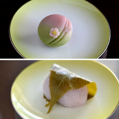 春♬♬♬「桜餅」道明寺製と「sakura」練り切り製