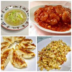 中華の定番♫エビチリ 餃子 チャーハン 鶏肉団子入りスープを作りましょ