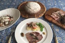 料理レッスン写真 - カンパーニュ〜自家製ロースハム&ひよこ豆とカッテージチーズのマリネ〜