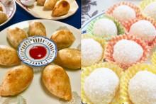 料理レッスン写真 - 咸水角(餅米揚げギョウザ ハムスイコー)&糯米滋(ココナッツだんご)
