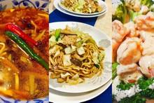 料理レッスン写真 - 手打ちで作る上海焼きそば&サンラータン&蝦マヨレッスン