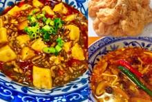 料理レッスン写真 - 手作り調味料と麻婆豆腐、サンラータン、エビマヨ