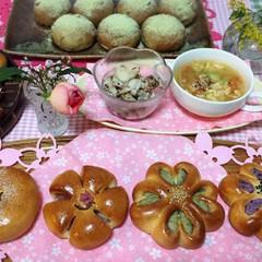 春にピッタリなパン「4種のあんパン」とヘルシーな「うぐいすパン」