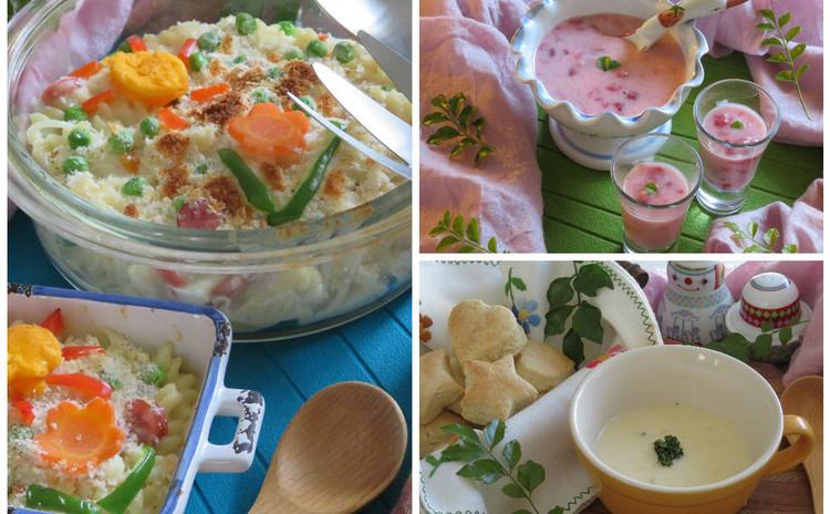 【親子レッスン】春グラタン・スープにスコーン・フルーチェで満腹春ランチ