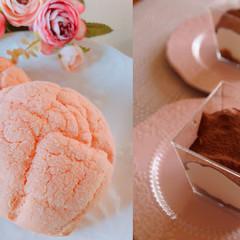 春爛漫♡春色いちごのふんわりメロンパン&ティラミス