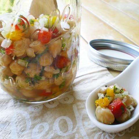 ひよこ豆の彩サラダ